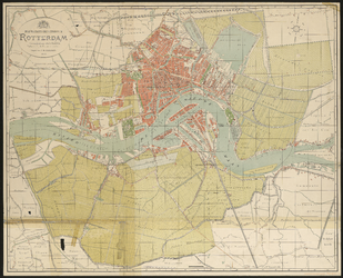 I-120 Plattegrond van de gemeente Rotterdam na annexatie van de gemeenten Charlois en Kralingen.