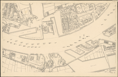 I-127-3 Plattegrond van Rotterdam. Blad 3: het afgebeelde gebied omvat: Delfshaven, Charlois, Katendrecht en het Nieuwe Werk