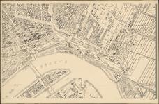 I-127-6 Plattegrond van Rotterdam. Blad 6: het afgebeelde gebied omvat: een deel van de stadsdriehoek, de Nieuwe Maas, ...