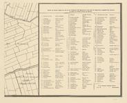 I-153-21 Blad 21: het Oudeland + legenda straatnamen Rotterdam-Centrum.