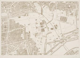 I-216-02-5 Plattegrond van Rotterdam in 49 bladen: Blad 5: Stadsdriehoek (met brandgrens).