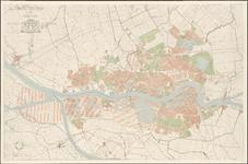 I-251 Plattegrond van Rotterdam en omgeving, met aanduiding van gemeentegrenzen, bebouwde omgeving en haven- en ...