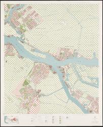 I-260-14 Topografische kaart van Rotterdam en omstreken | bestaande uit 31 bladen. Blad 14: Ridderkerk en Krimpen aan ...