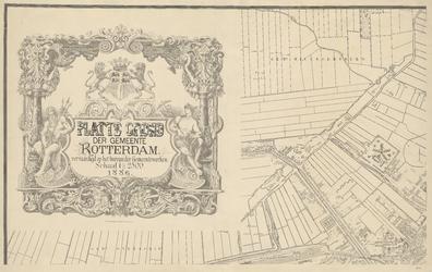 I-97-1 Plattegrond van Rotterdam. Blad 1: het afgebeelde gebied omvat een deel de gemeente Overschie, een deel van de ...