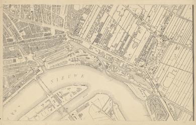 I-97-5 Plattegrond van Rotterdam. Blad 5: het afgebeelde gebied omvat een deel van de stadsdriehoek, de Nieuwe Maas, ...