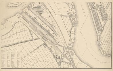 I-97-6 Plattegrond van Rotterdam. Blad 6: het afgebeelde gebied omvat Feijenoord, de Nieuwe Maas en het terrein van ...