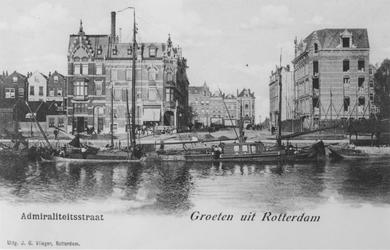 1968-2622 Het Boerengat, gezien vanuit het zuiden vanaf de Admiraliteitsstraat.