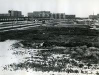 1970-1132 De Prins Alexanderlaan, en aan de overkant de bouw van metrostation Ommoord-zuid.