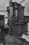 1973-394 Orgel van de gereformeerde kerk aan de Goudsesingel. Dezelfde plek werd later de werkplek van de ...