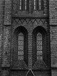 1974-668 De fragmenten van de toren van de rooms-katholieke kerk van de Allerheiligste Verlosser.