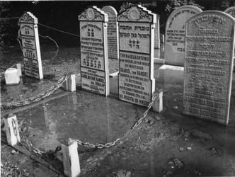 1976-2070 De door een dijkdoorbraak bij de Van Brienenoordbrug overstroomde Israëlitische Begraafplaats aan het Toepad.