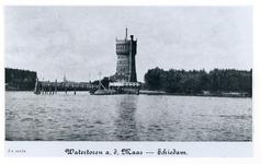 1976-336 De Nieuwe Maas, bij de watertoren van Schiedam.
