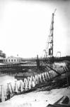 1987-2412-EN-2413 Aanleg van de Coolhaven, door firma Van Waning.Afgebeeld van boven naar beneden:-2412: op de ...