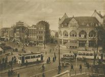 1992-471 Het Hofplein met rechts Station Hofplein van de ZHESM (Zuid-Hollandsche Electrische Spoorweg-Maatschappij) - ...