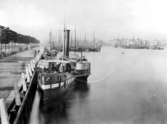 IV-21-24 De Nieuwe Maas met links de Maaskade en aan de overzijde de noordelijke oever.