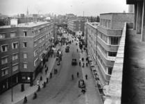 IX-1945-01 De Meent, gezien vanaf de in aanbouw zijnde Beurs.