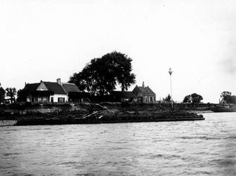 IX-2038 Gezicht op de Nesserdijk in het Kralingseveer aan de Nieuwe Maas.