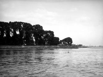 IX-2039 Gezicht op de Nesserdijk bij de bocht van den Oord aan de Nieuwe Maas.