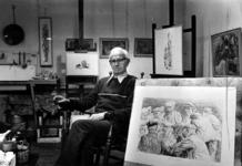 P-021616-1,-2 Portretten van Andreas Schotel, tekenaar en etser. Afgebeeld 1 van 2 opnamen.-1