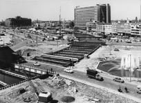 X-11-381-01-2 Overzicht aanleg van de metro omgeving Hofplein - Weena.