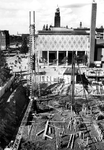 XIV-419-12-00-05-01-1 De bouw van kledingwarenhuis C & A aan de Coolsingel op de hoek Coolsingel - Spinhuisstraat.Van ...