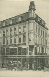 XIV-431 Kledingwarenhuis van de firma Esders aan de Hoofdsteeg.