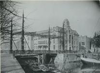 XIX-66-1 Oogziekenhuis aan de Oostmolenwerf.2 opnamen.Afgebeeld van boven naar beneden:-1: uit het zuidoosten-2: uit ...
