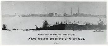 XV-46 Gezicht op het etablissement ( scheepswerf en machinefabriek ) Fijenoord van de Nederlandse Stoomboot ...