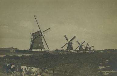 XVI-7 De watermolens aan de Boezem, uit het zuidoosten.