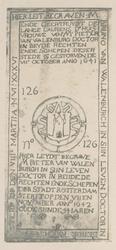 XVIII-13 Grafzerk van mr. Bruno van Walenburch en mr. Pieter van Walenburch (schepen van Rotterdam) en van diens ...