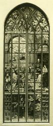 XVIII-138 Interieur van de Sint-Laurenskerk.Gedenkraam vervaardigd naar aanleiding van de geboorte van prinses Juliana.