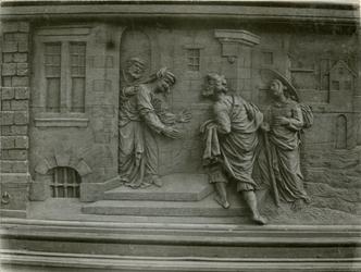 XVIII-369-4 Houtsnijwerk van de communiebank van de Sint-Rosaliakerk aan de Leeuwenstraat.