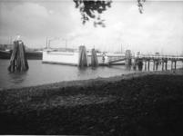 XXIII-160 Het zwembad bij de Oude Plantage met aan de overkant van de rivier Feijenoord.
