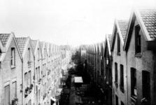 XXV-202 Gezicht op de achterzijde van de huizen aan de Gaffelstraat en Sint-Mariastraat.