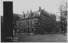 XXV-225 Gezicht op enige huizen aan de 's-Gravendijkwal tussen de Snellinckstraat en de Rochussenstraat.