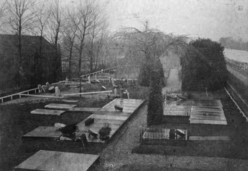 XXVII-24-04 Begraafplaats van de Nederlandse Hervormde Gemeente Delfshaven aan de Spangesekade bij de Delfshavense Schie.