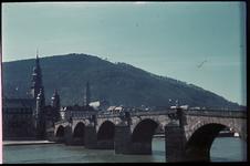 119 Vakantiefoto van de familie Boske, Karl-Theodor Brücke in Heidelberg.