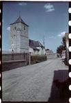 133 Vakantiefoto van de familie Boske. Saint-Christophe Kerk in Racour (Raatshoven) België.