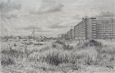 1969-2323 Nieuwbouw van Ommoord, gezien vanaf de Capelseweg naar het westen.