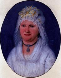 1970-1528 Portret van een dame in 19e eeuwse kledij.