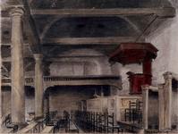 1973-4662 Interieur van de Schotse Kerk aan de 1e Lombardstraat.