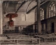 1973-4663 Interieur van de Schotse Kerk aan de 1e Lombardstraat.