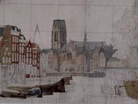1973-5022 Gezicht op de Kolk met het Westnieuwland (links), de Steigersgracht en de Grote Kerk (midden), de Korenbeurs ...