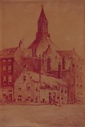 1982-2235 Hoek Gedempte Glashaven en Jodensteeg (rechts). Op de achtergrond de Zuiderkerk.