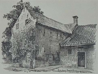 1985-1629 De achterzijde van boerderij Bouwlust aan de Schaardijk.