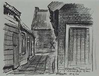 1985-1630 De bijgebouwen van boerderij Bouwlust aan de Schaardijk.