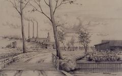 IX-1707 Gezicht op de Laanslootseweg, bij het Witte Dorp, uit het noordwesten.