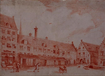 RI-1074 Het Zakkendragershuis op de Nieuwemarkt aan de Botersloot.