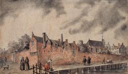 RI-652 t Bagijnhof van de St. Laurens Kerck te sien tot Rotterdam Bagijnhof ca. 1300.