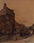 VIII-23-00-00-07 Gezicht op de Delftsevaart, met de Raambrug en de achterzijde van de huizen aan de Raamstraat.